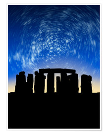 Póster  Star trails over Stonehenge - VICTOR HABBICK