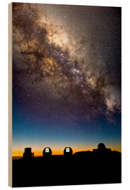 Cuadro de madera  Mauna Kea telescopes and Milky Way - David Nunuk
