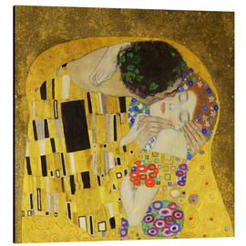 Aluminio-Dibond  The Kiss (detail cross) - Gustav Klimt