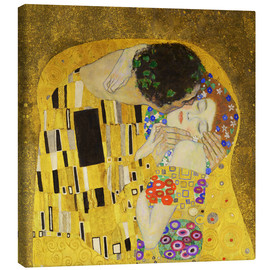 Lienzo  The Kiss (detail cross) - Gustav Klimt