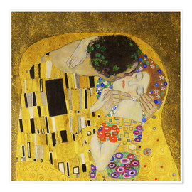 Póster  The Kiss (detail cross) - Gustav Klimt
