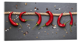 Cuadro de metacrilato  red hot chilli peppers with spice - pixelliebe
