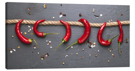 Lienzo  red hot chilli peppers with spice - pixelliebe