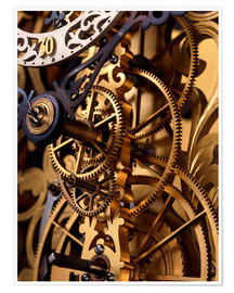 Póster Internal gears within a clock