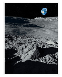 Póster  Earth from the Moon - Detlev van Ravenswaay