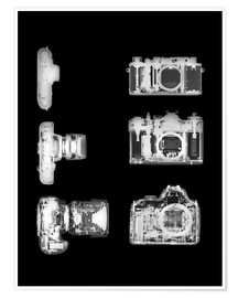 Póster  X-ray of a digital camera - PhotoStock-Israel