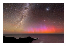 Póster Aurora australis and Milky Way