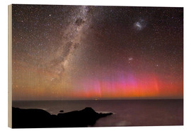 Cuadro de madera  Aurora australis and Milky Way - Alex Cherney