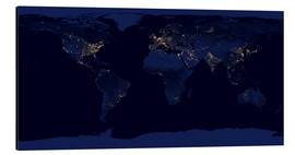 Cuadro de aluminio  Earth at night - Nasa