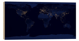 Cuadro de madera  Earth at night - Nasa
