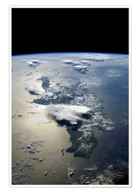 Póster  Hispaniola, ISS - Nasa