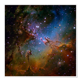 Póster  Eagle Nebula, optical image - Robert Gendler