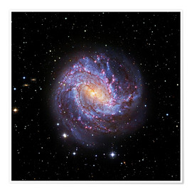 Póster Southern Pinwheel Galaxy, Hubble image