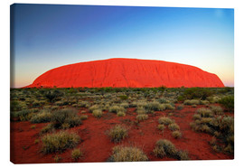 Lienzo  Uluru (Ayers Rock) at sunrise, Australia - I. Schulz