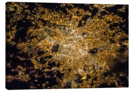 Lienzo  Paris by night from above - NASA
