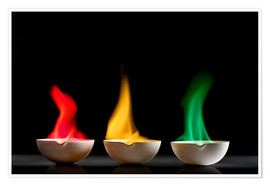 Póster  Flame tests