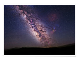 Póster  Milky Way over California, USA - Tony & Daphne Hallas