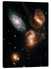 Lienzo  Stephan's Quintet galaxies, HST image - Nasa