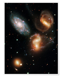 Póster  Stephan's Quintet galaxies, HST image - Nasa