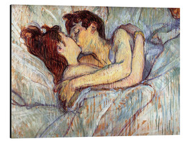 Aluminio-Dibond  In Bed The Kiss - Henri de Toulouse-Lautrec