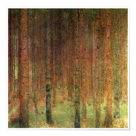 Póster pine forest ii