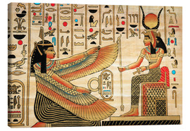 Lienzo  Papyrus with Egyptian characters