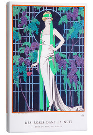 Lienzo  Roses in the Night - Georges Barbier