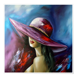 Póster  Lady with Hat - Theheartofart Gena