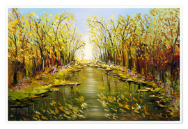 Póster  Trees by the river - Theheartofart Gena