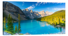 Lienzo  Moraine Lake at the morning panorama - rclassen