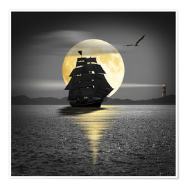Póster A ship with black sails