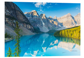 Cuadro de PVC  Moraine Lake in the Rocky Mountains - Canada - rclassen