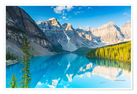 Póster Moraine Lake in the Rocky Mountains - Canada