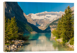 Cuadro de madera  Lake Louise at Alberta Banff National Park - Canada - rclassen