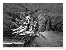 Póster  The Inferno, Canto 21 - Gustave Doré