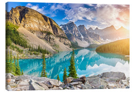 Lienzo  Canada - Sunrise at the Moraine Lake - Banff Alberta - rclassen