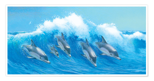 Póster Leaping Dolphins