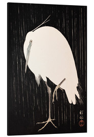 Aluminio-Dibond  White Crane in the rain - Ohara Koson