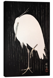Lienzo  White Crane in the rain - Ohara Koson