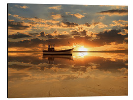 Cuadro de aluminio  The fishing boat in the sunset - Monika Jüngling
