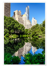 Póster  New York City - Central Park South (The Pond) - Sascha Kilmer