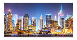 Póster  New York Midtown Skyline by Night - Sascha Kilmer