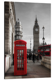 Aluminio-Dibond  London Telephone Box and Big Ben - Filtergrafia