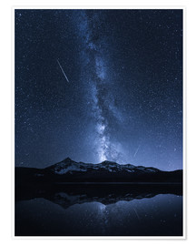 Póster  Galaxies Reflection - Toby Harriman