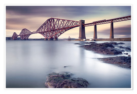 Póster  Forth Rail Bridge - Martin Vlasko