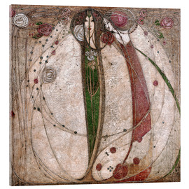 Metacrilato  The White Rose And The Red Rose - Margaret MacDonald Mackintosh