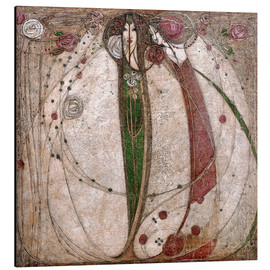 Aluminio-Dibond  The White Rose And The Red Rose - Margaret MacDonald Mackintosh