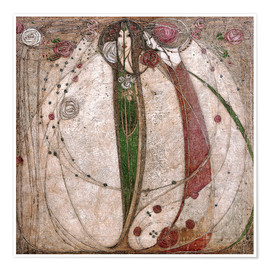 Póster  The White Rose And The Red Rose - Margaret MacDonald Mackintosh
