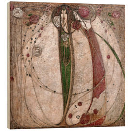 Madera  The White Rose And The Red Rose - Margaret MacDonald Mackintosh