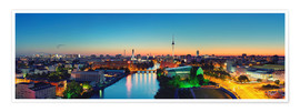 Póster Berlin Skyline Panorama